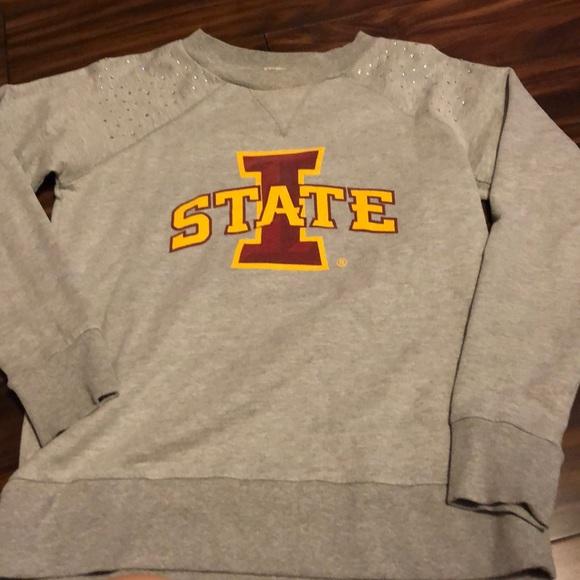 Sweaters - ISU sweatshirt with  rhinestones on the shoulders